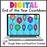 Digital Balloon Pop Countdown Customize with 22 Different Days