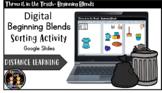 Digital Beginning Blends Sorting Activity- Literacy Center