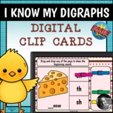 Digital Beginning Digraph Clip Cards - Boom Cards™
