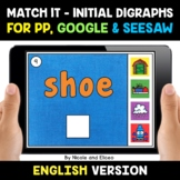 Digital Beginning Digraphs Word Work for Google and Seesaw