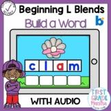 Boom Cards Beginning L Blends Build A Word