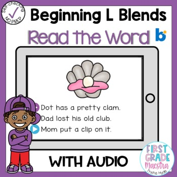Boom Cards Beginning L Blends Read the Word