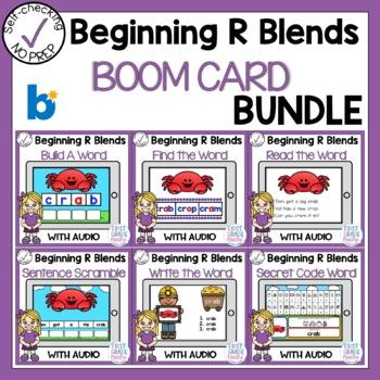 Digital Beginning R Blends Boom Cards Bundle
