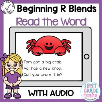 Digital Beginning R Blends Read the Word Boom Cards