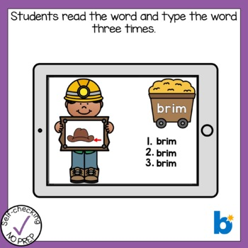 Digital Beginning R Blends Write the Word Boom Cards