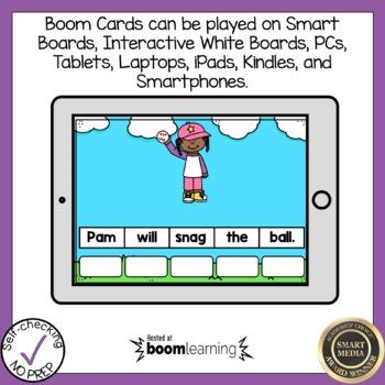 Digital Beginning S Blends  Sentence Scrambles Boom Cards