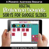 Digital Beginning Sound Sorts for Google Slides   Distance