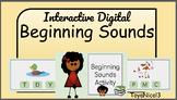 Digital Beginning Sounds Activity - Editable