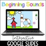 Digital Beginning Sounds for Google Slides and Google Classrooms