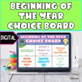 Digital Back to School Choice Board l Distance Learning