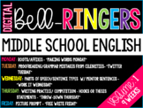 Digital Bell-Ringers English Middle School Warm ups Vol. 1 - 6th, 7th, 8th grade