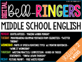 Digital Bell-Ringers English Middle School Warm ups Vol. 2 - 6th, 7th, 8th Grade