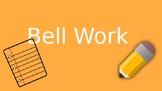Digital Bell Work Template