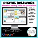Digital Bellwork for Spanish 1