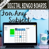Digital Bingo Boards (works with Distance Learning and for