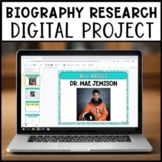 Digital Biography Project | Distance Learning | For GOOGLE Slides