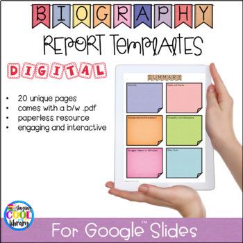 Digital Biography Templates for Google Slides