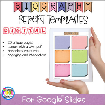Google Slides Biography Templates Worksheets & Teaching