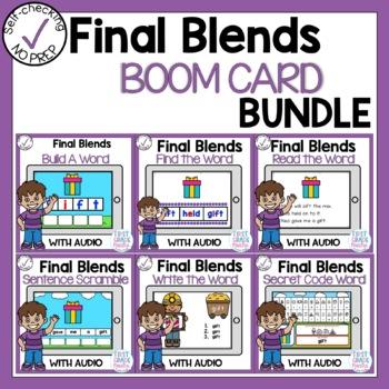 Boom Cards Final Blends Phonics Bundle
