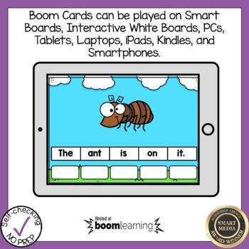 Boom Cards Final Blends Sentence Scrambles
