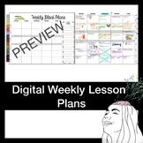 Editable Digital Block Lesson Plan! Whole Trimester (13 weeks)