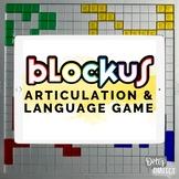 Digital BlockUs Articulation & Language Game [teletherapy,