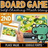 Digital Board Game | Place Value | Self-Checking | Editabl
