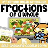 Digital Board Game | Fractions | Self-Checking | Editable
