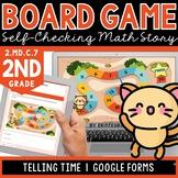 Digital Board Game | Telling Time | Self-Checking | Editab