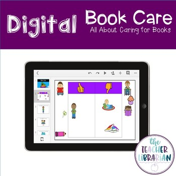 Digital Google Slides Book Care Activity