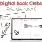 Digital Book Club + Printable Graphic Organizers | No Prep