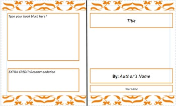 digital book jacket template by simple and successful learning tpt