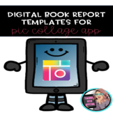 Digital Book Report Templates for Pic Collage App