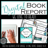 Digital Book Report and Poster  for Google Classroom and One Drive