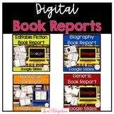 Digital Book Reports Bundle | Fiction, Nonfiction, Biograp