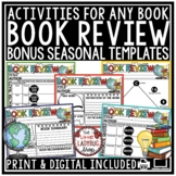 Digital Book Report: Reading Response Graphic Organizers, Book Review Template