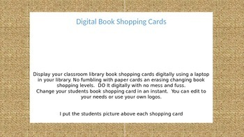 Digital Book Shopping Cards