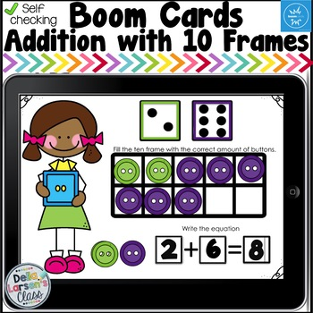 Digital Boom Cards Addition to Ten with Dice