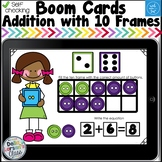 Digital Boom Cards Addition to Ten with Dice Distance Learning