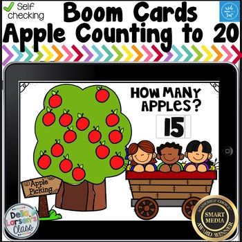 Digital Boom Cards Count the Apples
