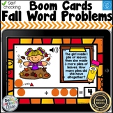 Digital Boom Cards Fall Word Problems