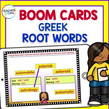 Digital Boom Cards GREEK ROOTS WORD SORT