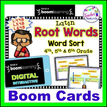 Digital Boom Cards LATIN ROOTS WORD SORT
