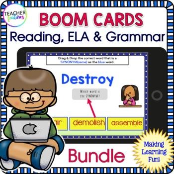 Boom Cards ELA   READING   VOCABULARY ACTIVITIES   2nd Grade   3rd Grade