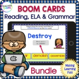 2nd Grade & 3rd Grade Boom Cards : Third grade READING and GRAMMAR Bundle