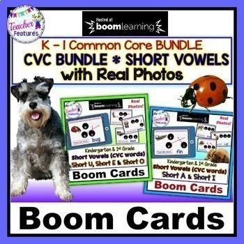 Boom Cards ELA | CVC Activities | Kindergarten | First Grade