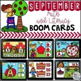 Digital Boom Cards September Math and Literacy BUNDLE  Dis