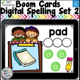 Digital Boom Cards Spelling CVC Words Set 2 with Aa Word Families