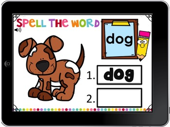 Digital Boom Cards Spelling CVC Words  Set 7 with Oo Word Families