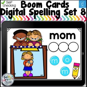 Digital Boom Cards Spelling CVC Words Set 8 with Oo Word Families